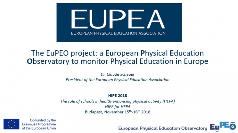 Biannual International Conference on Quality Physical Education (HIPE), Budapest, 15-16 November